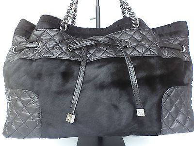 26110231db86 CHANEL Black Pony Hair Quilted Leather Tote h… « Cheap Designer Handbags